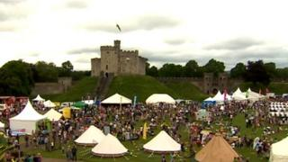Tafwyl festival in grounds of Cardiff Castle