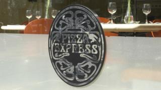 Pizza Express restaurant window