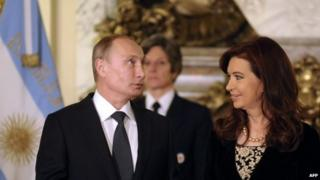 Vladimir Putin and Christina Fernandez - 12 July