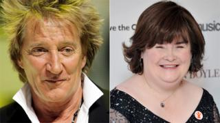 Rod Stewart and Susan Boyle