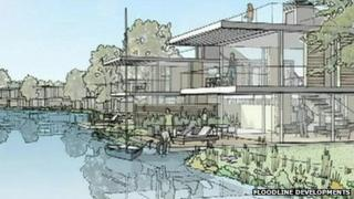 An artist's impression of the Burfield Park development