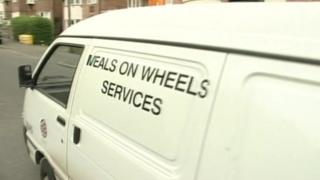Meals on wheels service vehicle
