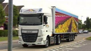 A lorry with the first design