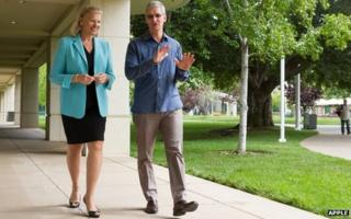 Ginni Rometty and Tim Cook