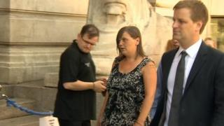 Claire Smith attending the inquest at the Council House