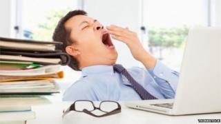 Sleepy office worker