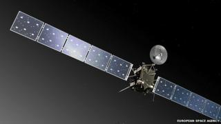 Artist's impression of the Rosetta spacecraft