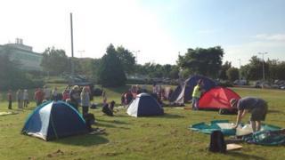 Stafford Hospital camp