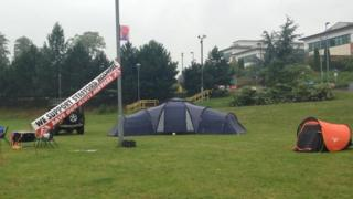 Protest camp at Stafford Hospital