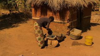 Agnes at her home in Chibombo, Zambia
