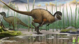 Reconstruction of Kulindadromeus zabaikalicus, from the Jurassic of Siberia