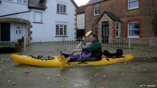 Muchelney was the first village to be completely cut-off by flood water