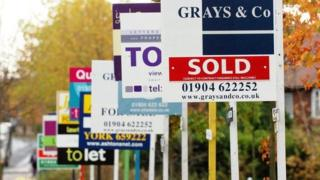 Sale and sold signs