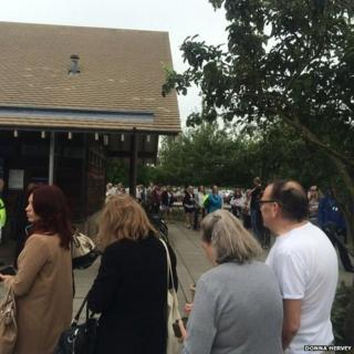 Queues at Babraham Road park and ride in Cambridge