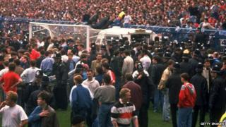 Hillsborough pitch scene