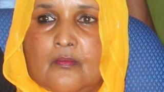 Saado Ali Warsame pictured in parliament in December 2013