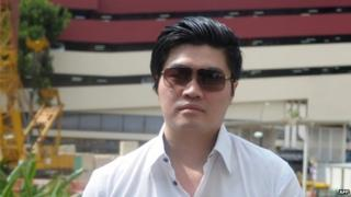 Singapore businessman Eric Ding Si Yang arrives at the state court for sentencing in Singapore on 24 July 2014.