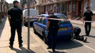 Police search in Rockhouse Street, Tuebrook