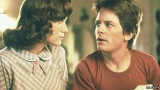 Lea Thompson and Michael J Fox