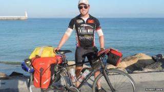 Cyclist Robert Grew