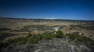 A landscape of Los Monegros