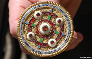 Anglo-Saxon brooch replica, Sutton Hoo
