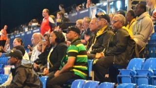Jamaican netball team supporters