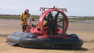 Avon Fire and Rescue Service hovercraft