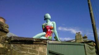 Painted mannequin stolen in Cambridge