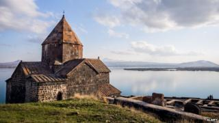 Sevanavank monastic complex in Armenia