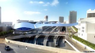Artist's impression of redeveloped New Street Station