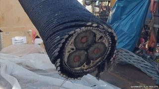 Section of Guernsey undersea electricity cable