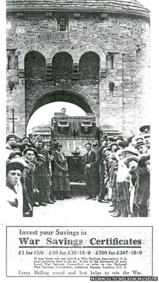 Julian the Tank visits Monmouth in 1918