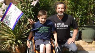 Jacob Rafferty with his father Adrian