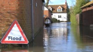 Eastbury flooding in February 2014