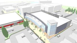 Artist's impression of Telford's Southern Quarter