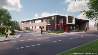 Computer generated image of Leek community fire station