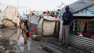 UN refugee camp in Upper Nile State capital Malakal, South Sudan. 3 August 2014