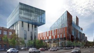 An artist's impression of the University of Ulster's new Belfast campus