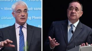 Alistair Darling and Alex Salmond will debate on STV at 20:00 on Tuesday