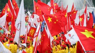 Flags in China