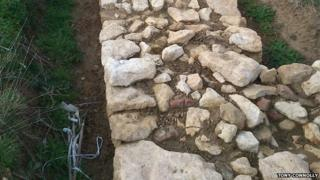 The foundations of the barn