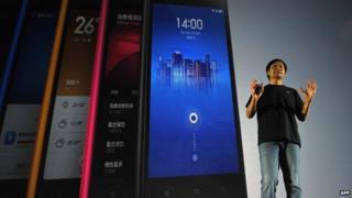 Xiaomi CEO at Xiaomi phone launch