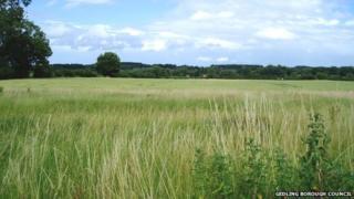 Farmland north of Papplewick Lane