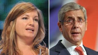 Karen Brady and Sir Stuart Rose