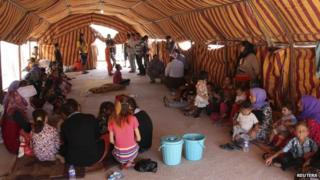 Displaced people from the Yazidi community