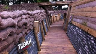 The largest outdoor replica trench in the British Isles