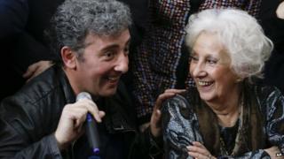 Ignacio Hurban and Estela de Carlotto
