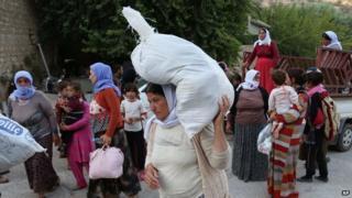 Members of the Yazidi community