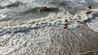 32 people saved on Polzeath beach